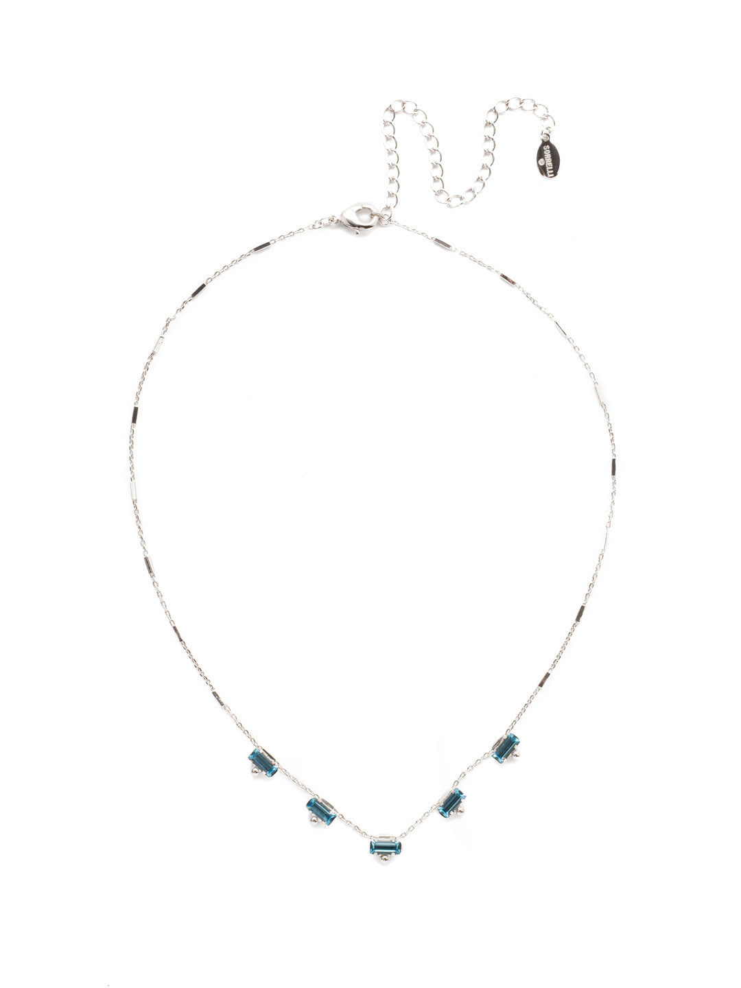 Shine and Dash Tennis Necklace - NDM17RHTHT