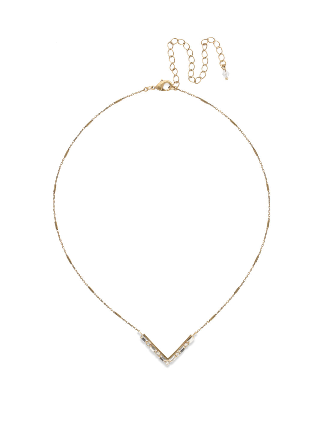 Chevron Pendant Necklace - NDM9AGCRY