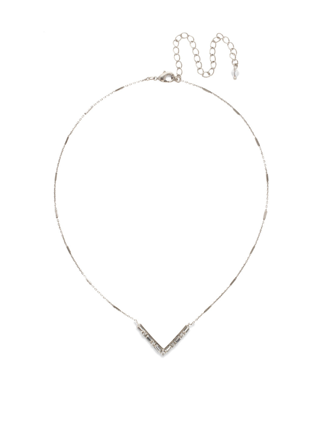 Chevron Pendant Necklace - NDM9ASCRY