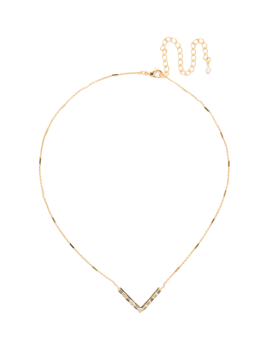 Chevron Pendant Necklace - NDM9BGCRY