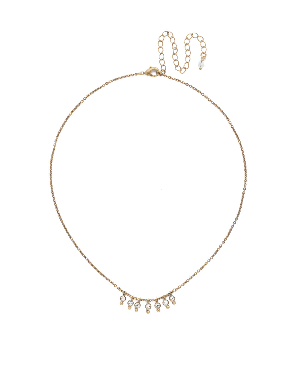Delicate Dots Pendant Necklace - NDN115AGCRY