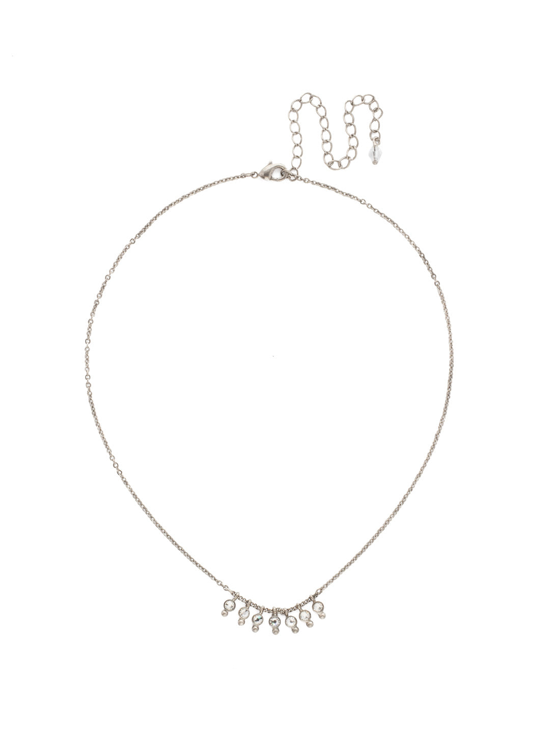 Delicate Dots Pendant Necklace - NDN115ASCRY
