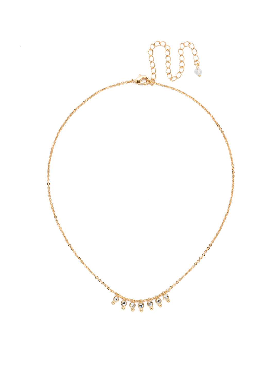 Delicate Dots Pendant Necklace - NDN115BGCRY