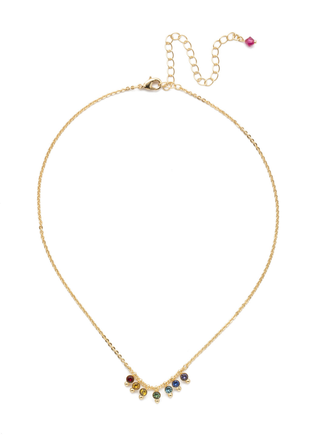 Delicate Dots Pendant Necklace - NDN115BGPRI