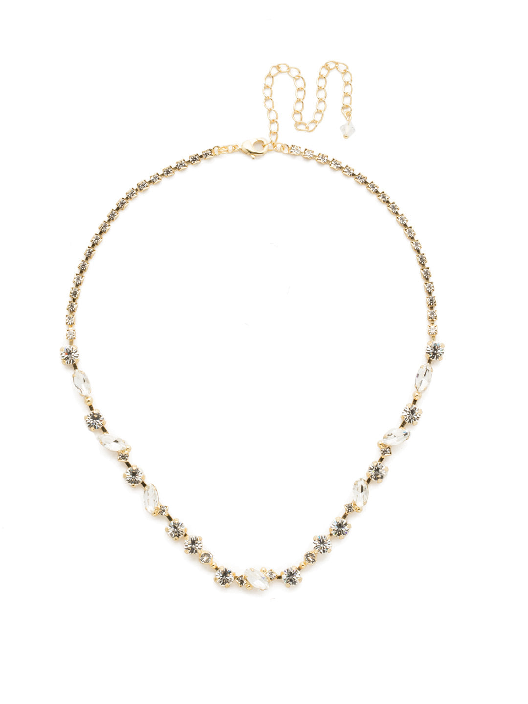 Simply Stated Tennis Necklace - NDN1BGCRY