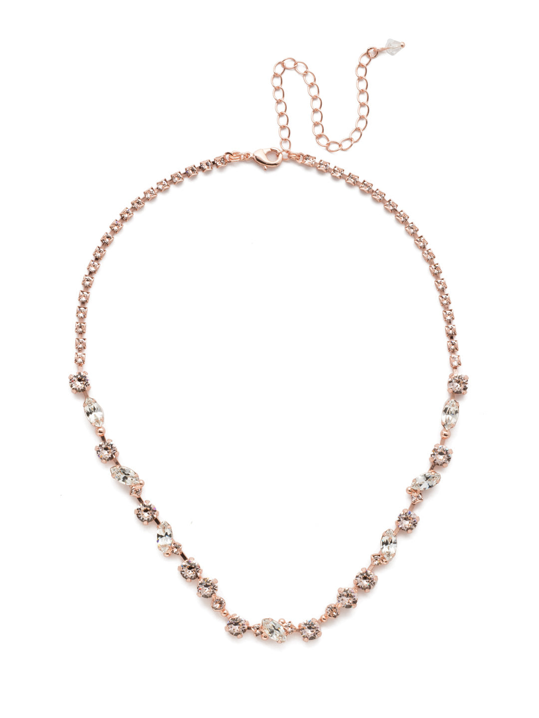 Simply Stated Tennis Necklace - NDN1RGSNB