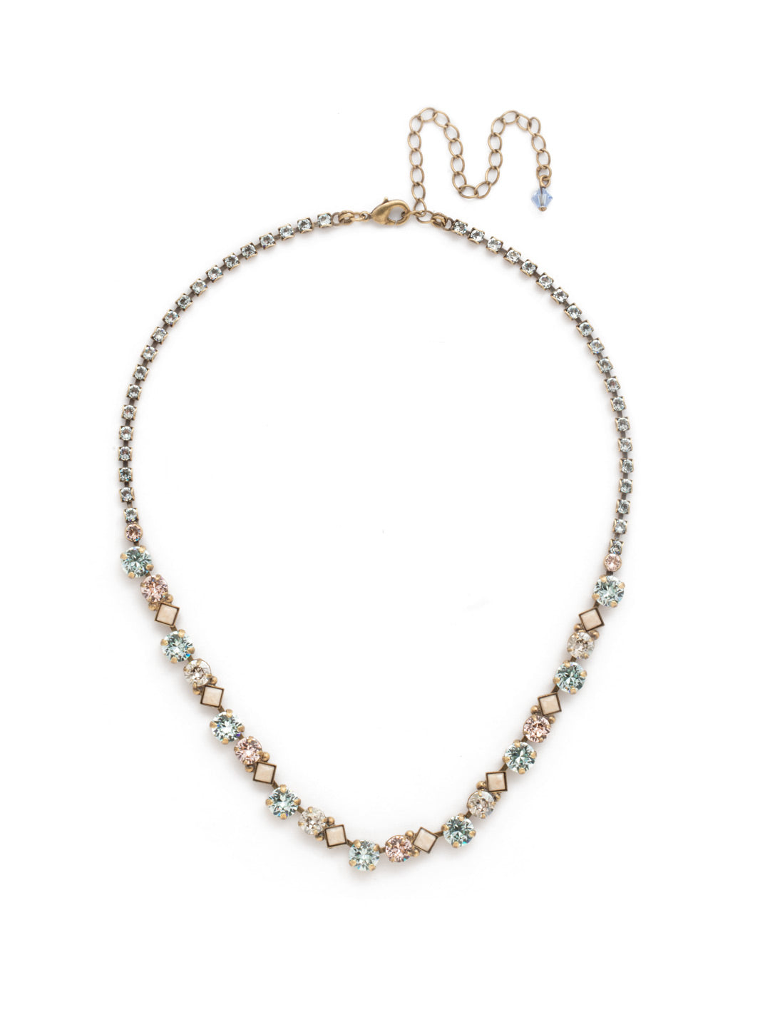 Dazzling Diamonds Line Necklace - NDN36AGCMI