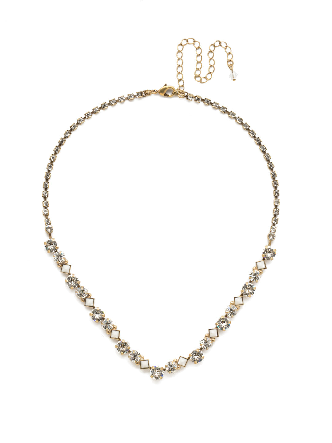 Dazzling Diamonds Line Necklace - NDN36AGCRY