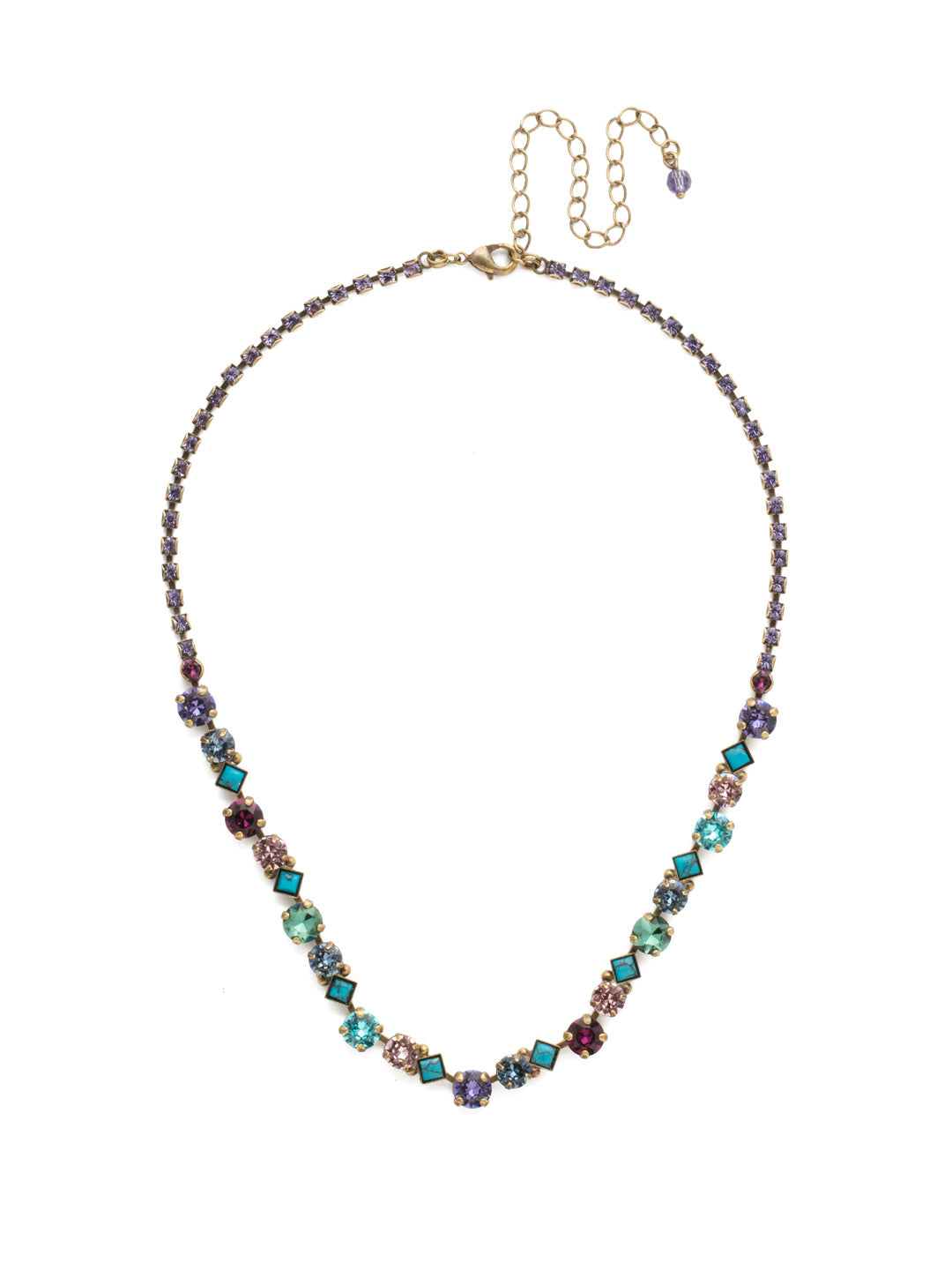 Dazzling Diamonds Line Necklace - NDN36AGJT