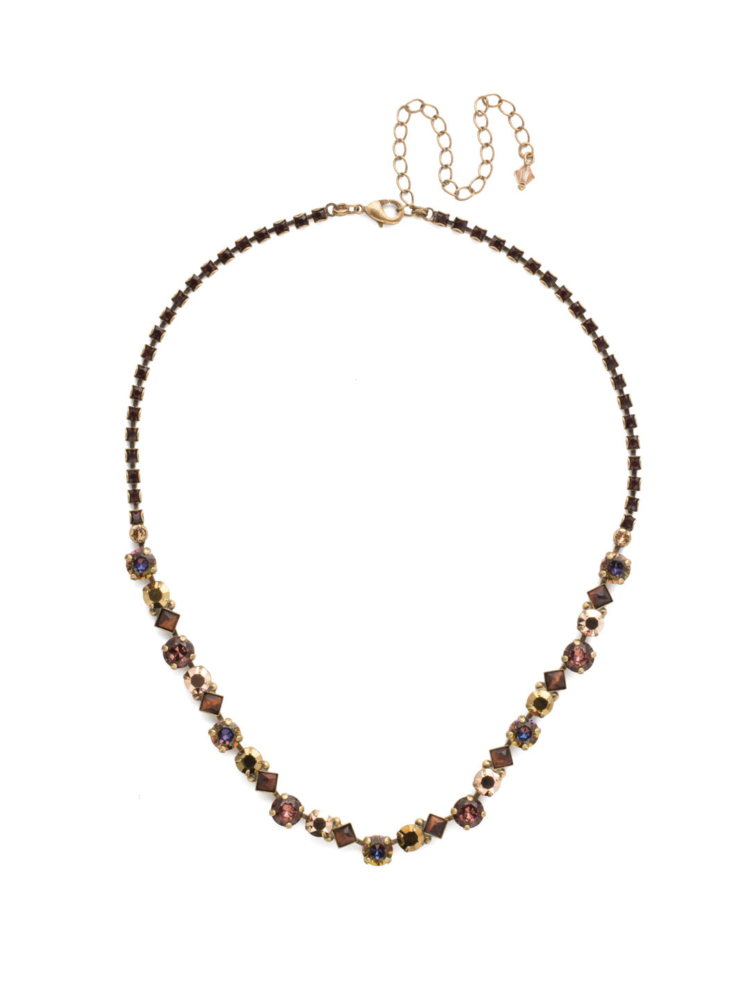 Dazzling Diamonds Line Necklace - NDN36AGM