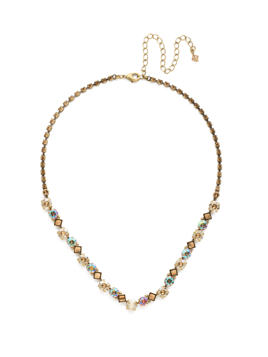 Dazzling Diamonds Line Necklace - NDN36AGNT