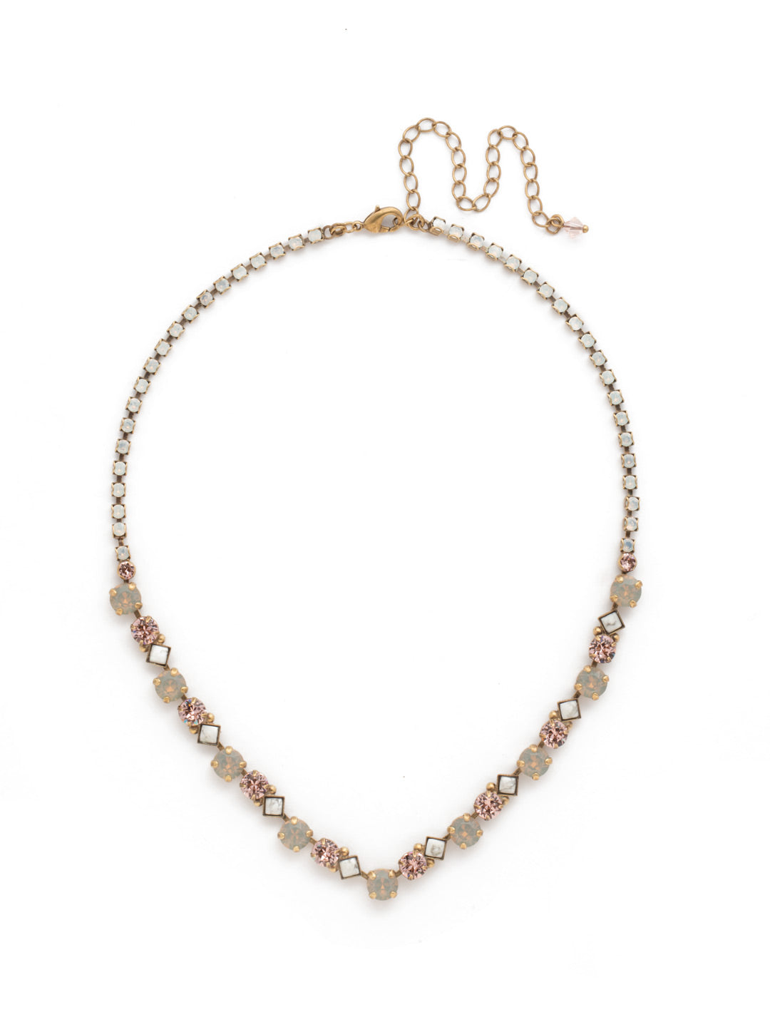 Dazzling Diamonds Line Necklace - NDN36AGPP