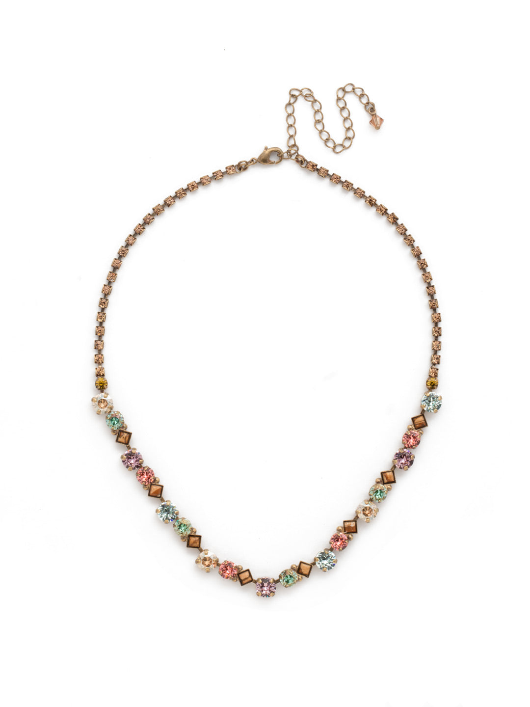 Dazzling Diamonds Line Necklace - NDN36AGRB