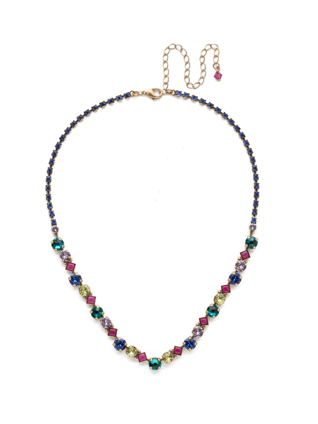 Dazzling Diamonds Line Necklace - NDN36AGWIL