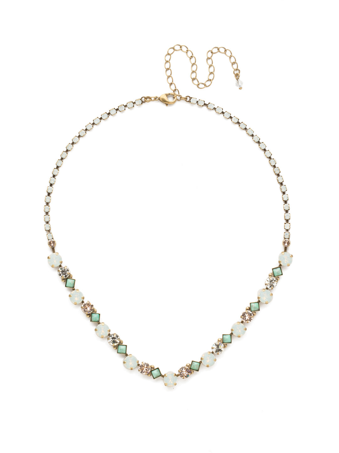 Dazzling Diamonds Line Necklace - NDN36AGWMA
