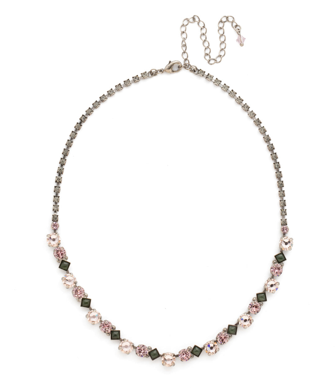 Dazzling Diamonds Line Necklace - NDN36ASAG