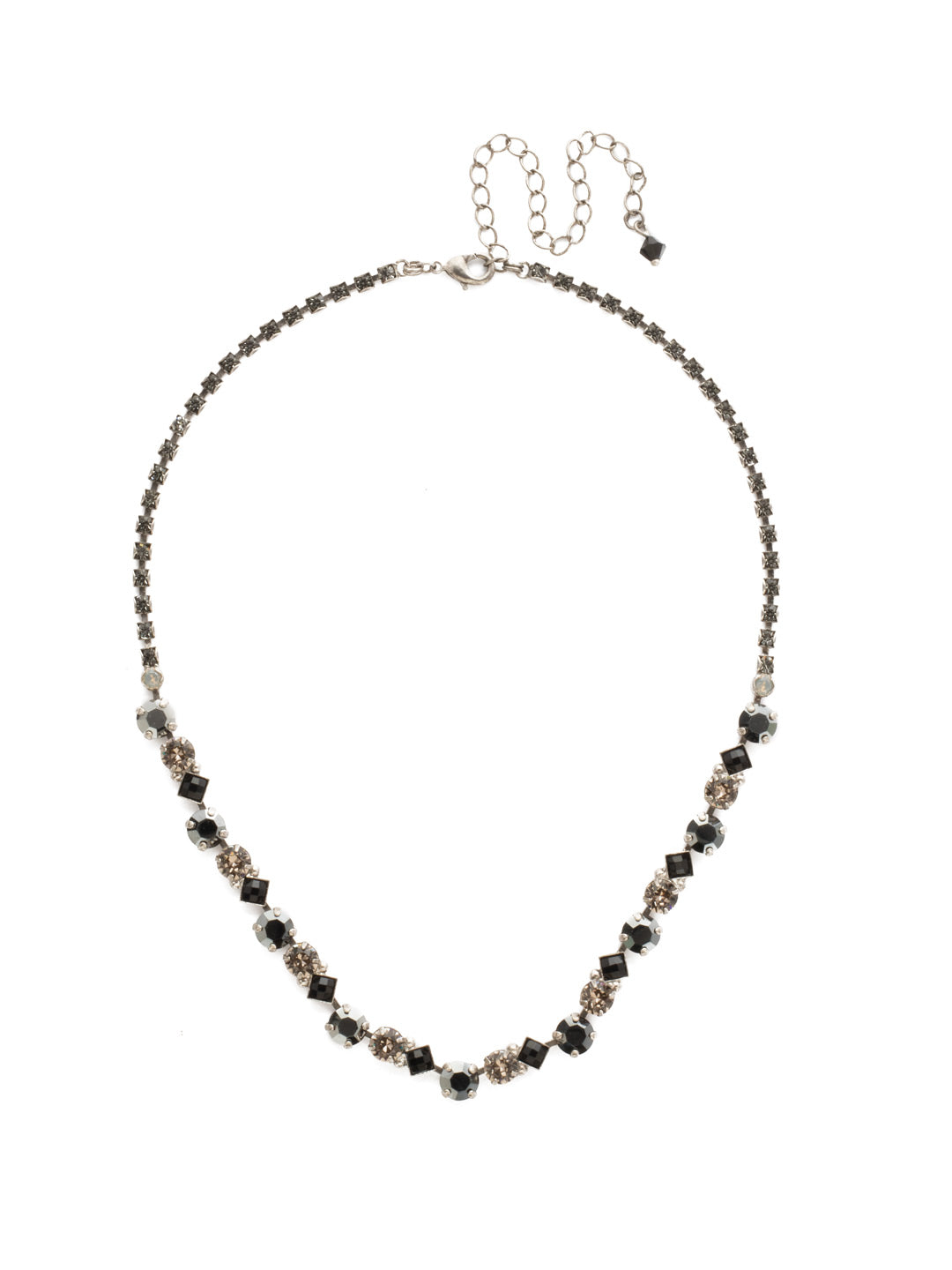 Dazzling Diamonds Line Necklace - NDN36ASBON