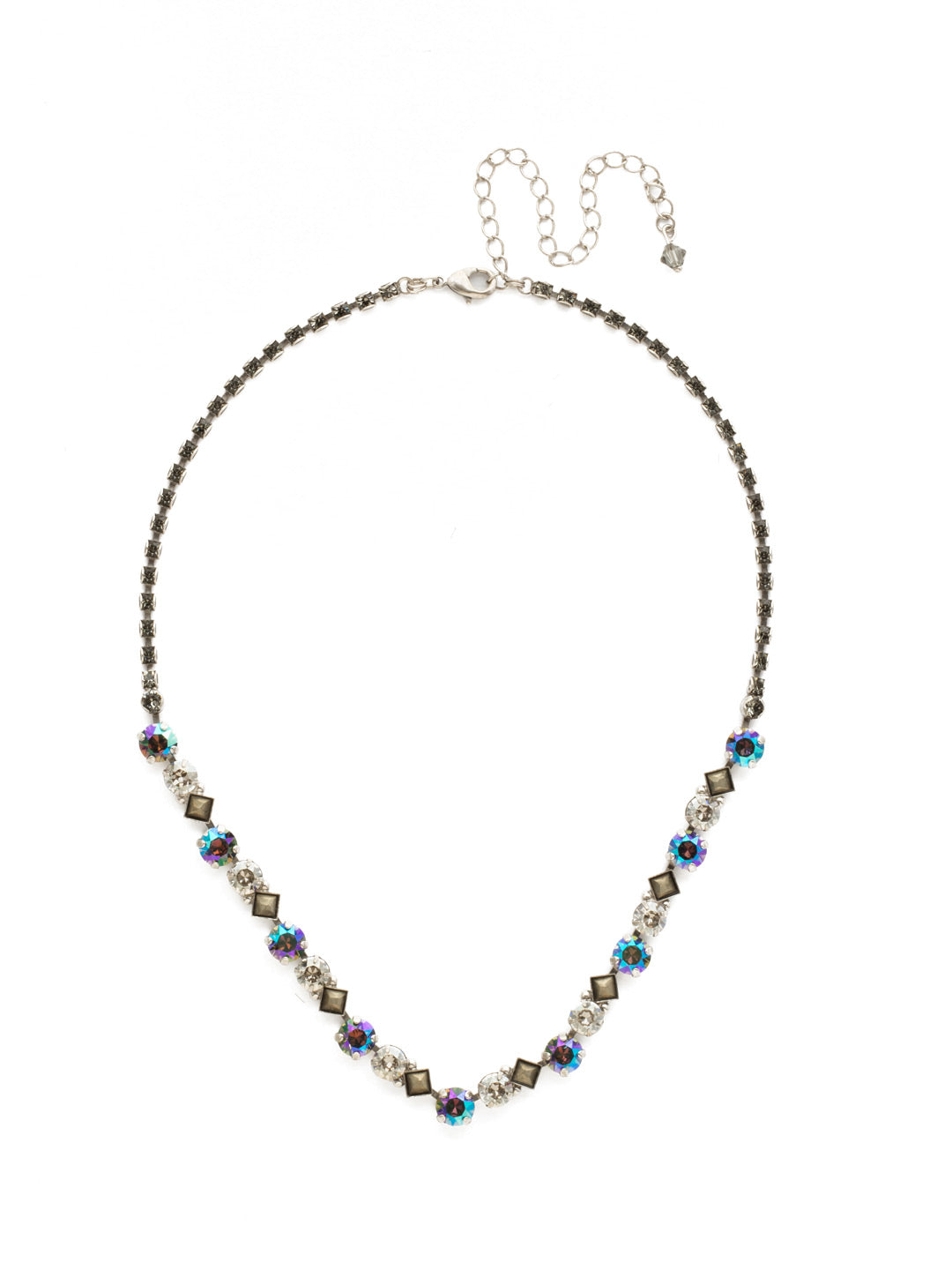 Dazzling Diamonds Line Necklace - NDN36ASCRO