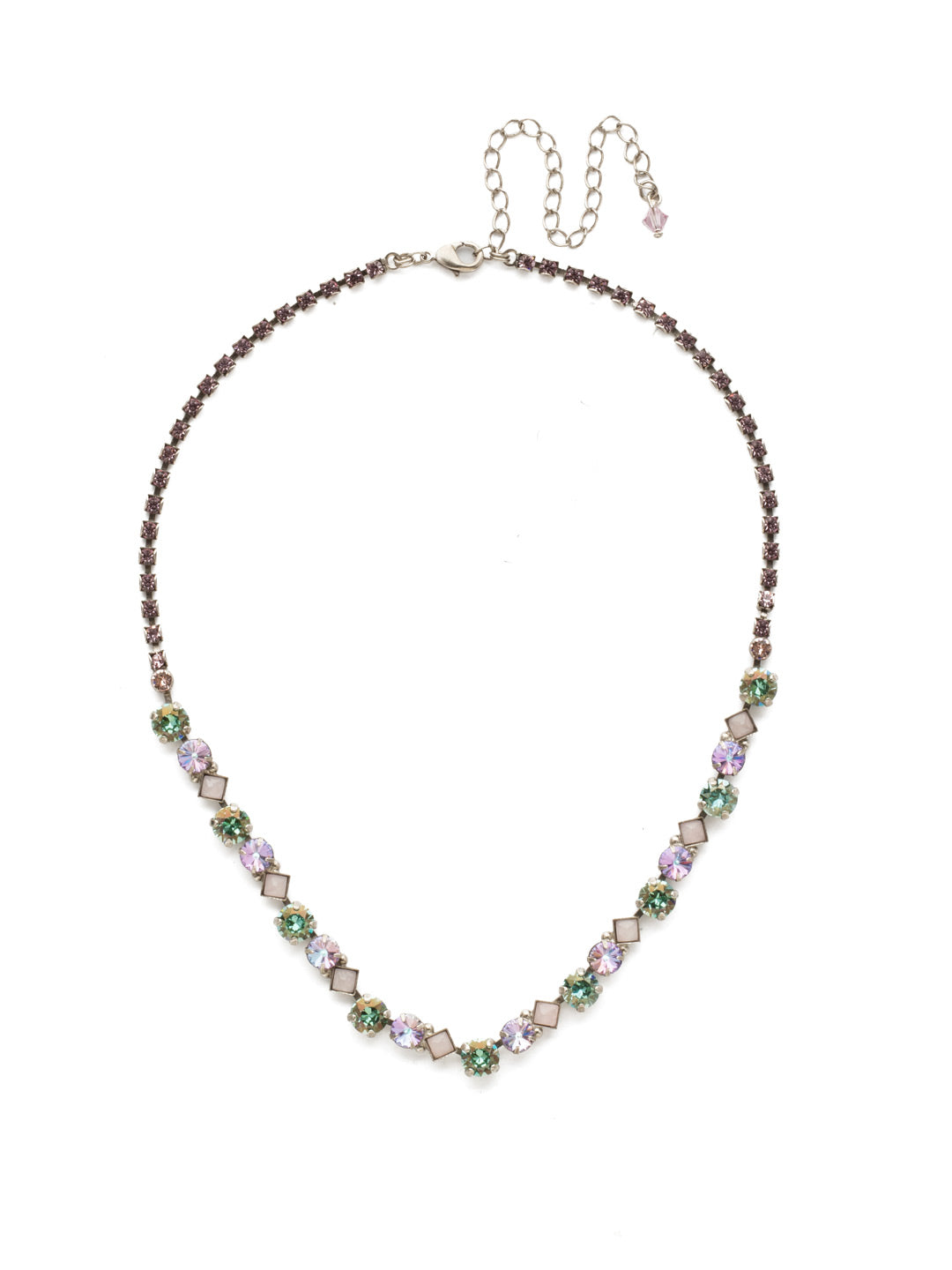 Dazzling Diamonds Line Necklace - NDN36ASLPA