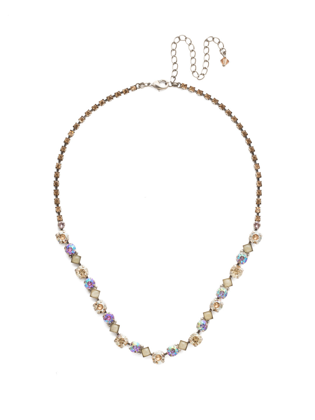 Dazzling Diamonds Line Necklace - NDN36ASMIR