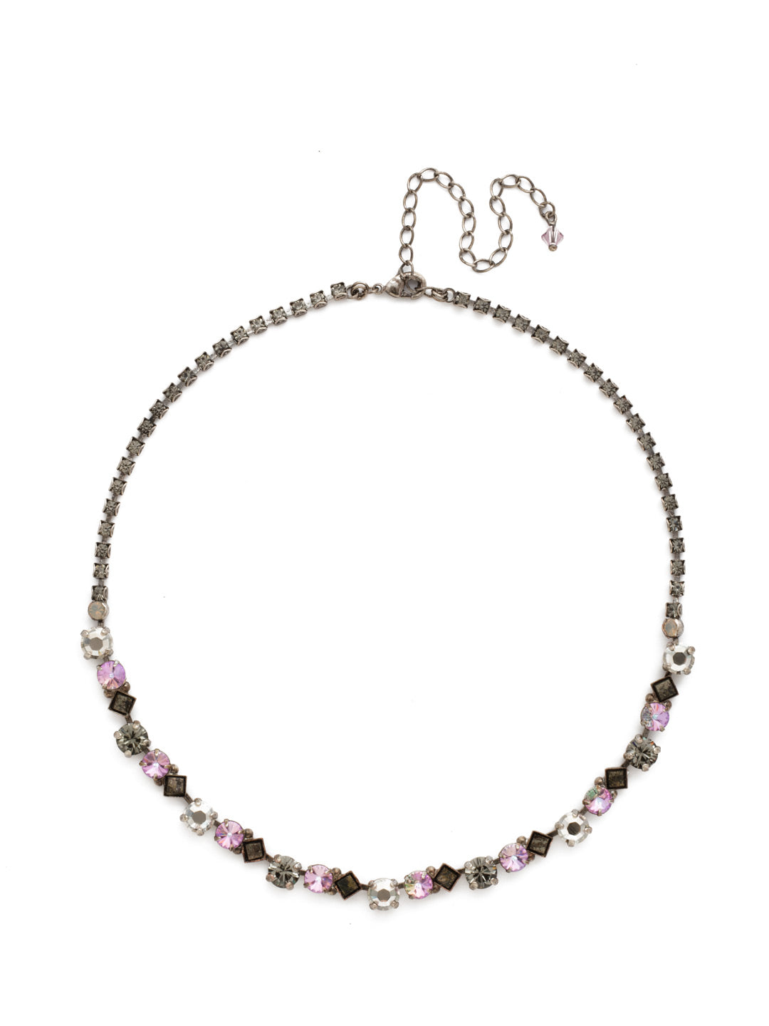 Dazzling Diamonds Line Necklace - NDN36ASPUL