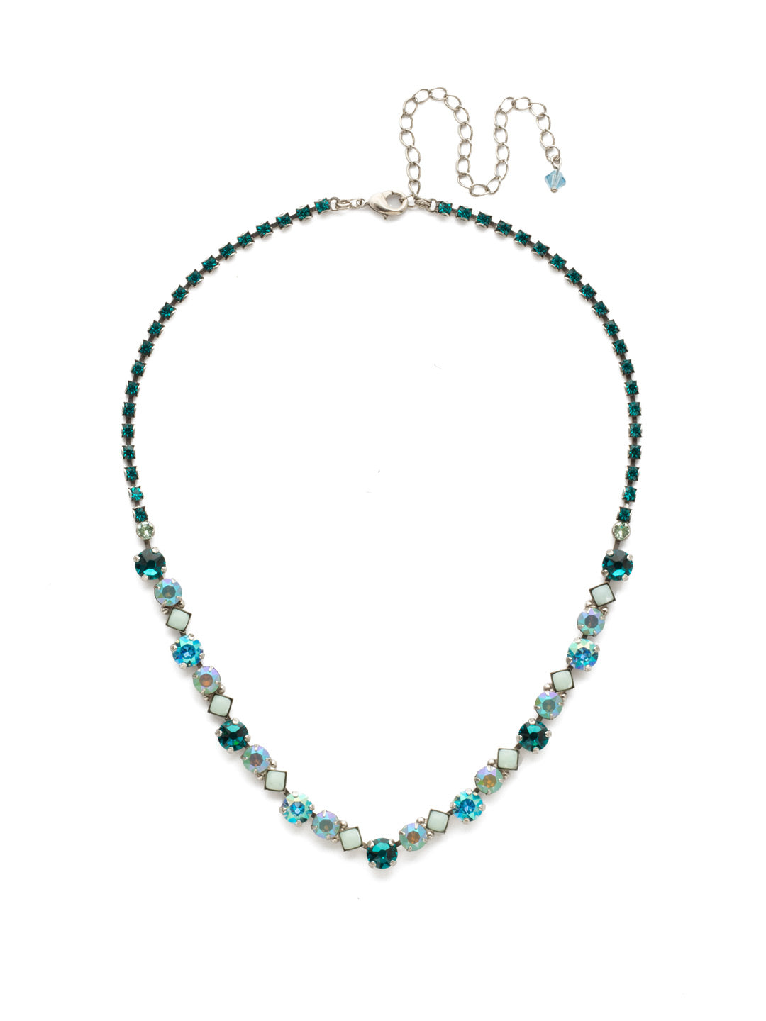Dazzling Diamonds Line Necklace - NDN36ASSMN