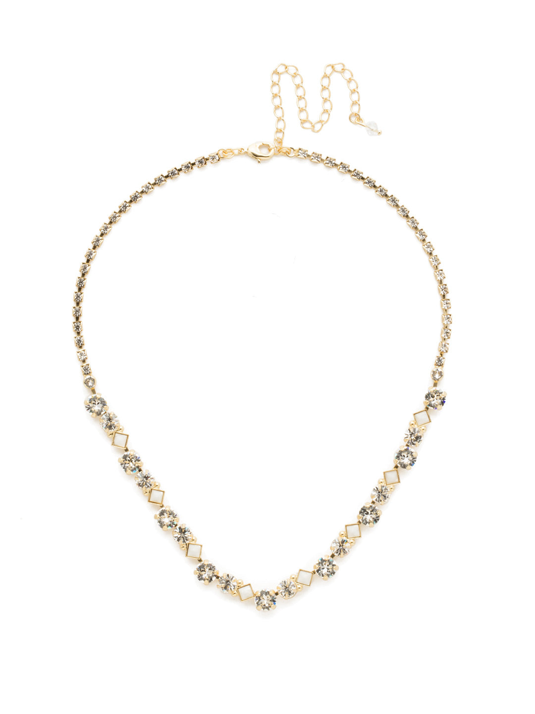 Dazzling Diamonds Line Necklace - NDN36BGCRY