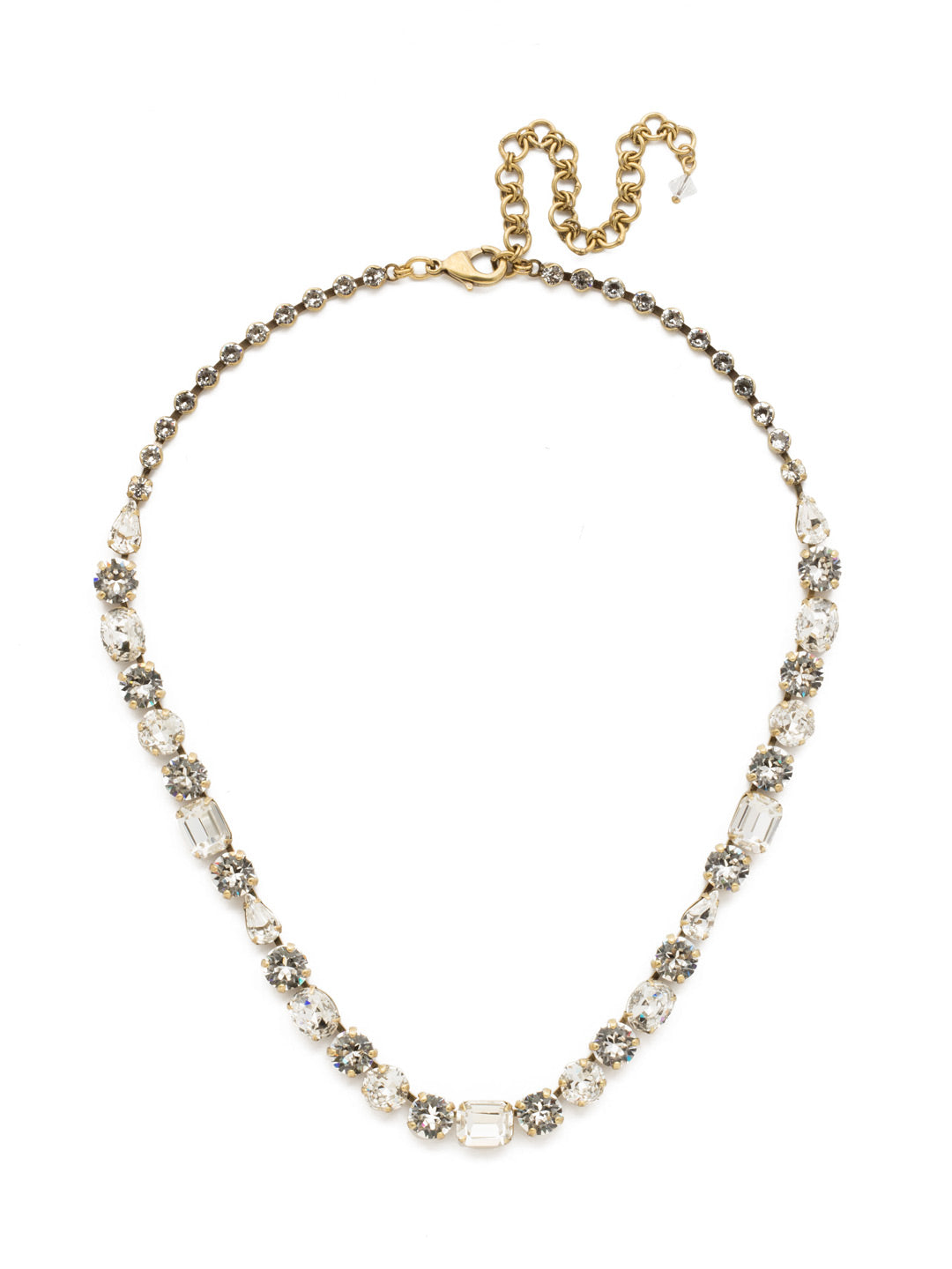 Tansy Line Necklace - NDQ13AGCRY