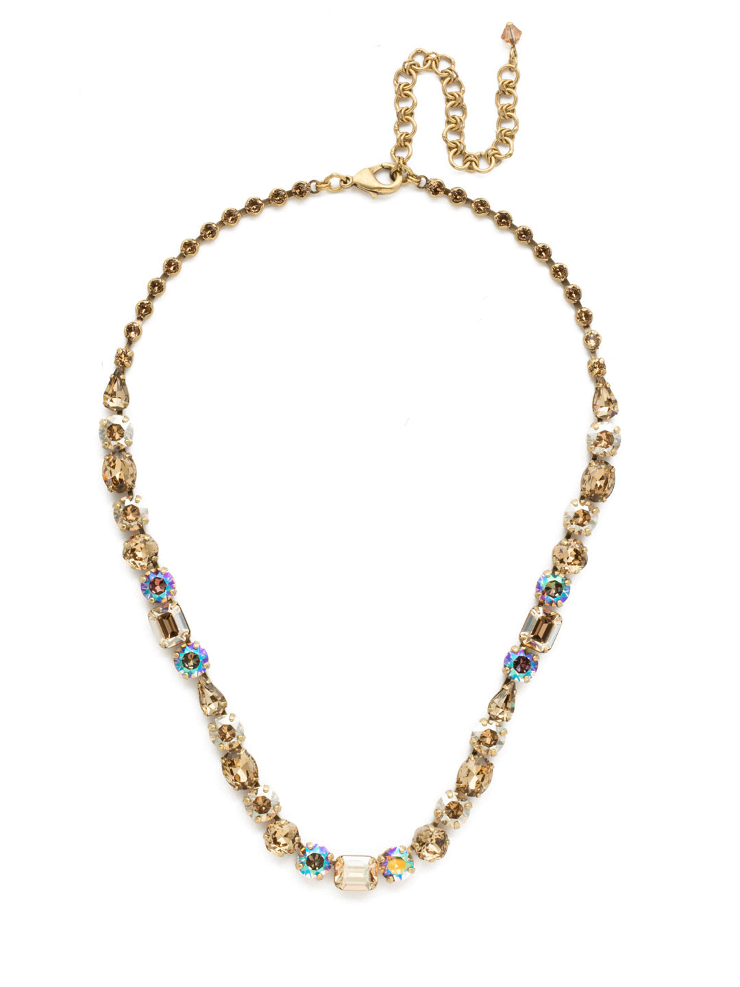 Tansy Line Necklace - NDQ13AGNT