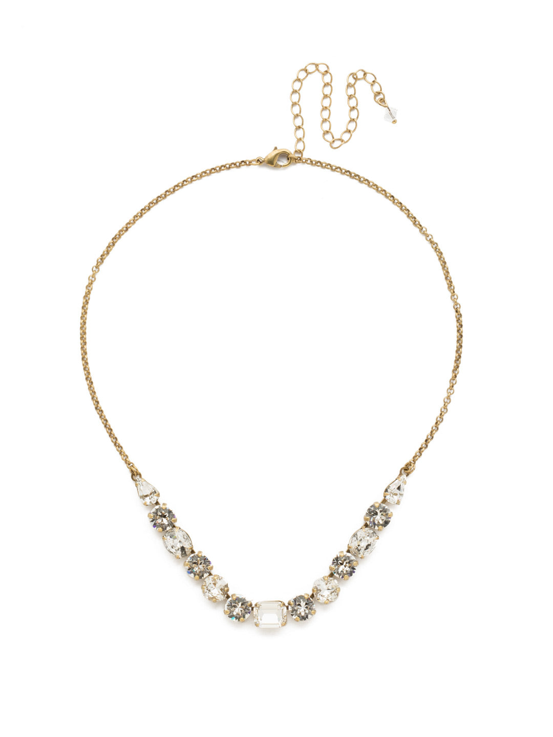 Tansy Half Line Tennis Necklace - NDQ14AGCRY