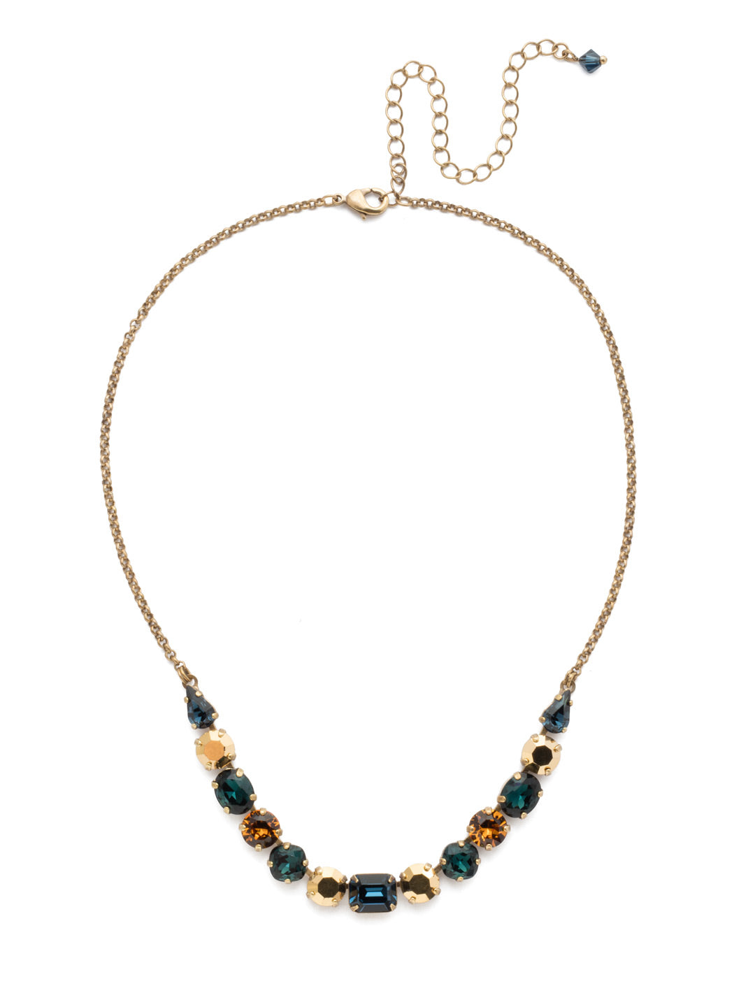 Tansy Half Line Tennis Necklace - NDQ14AGLNA