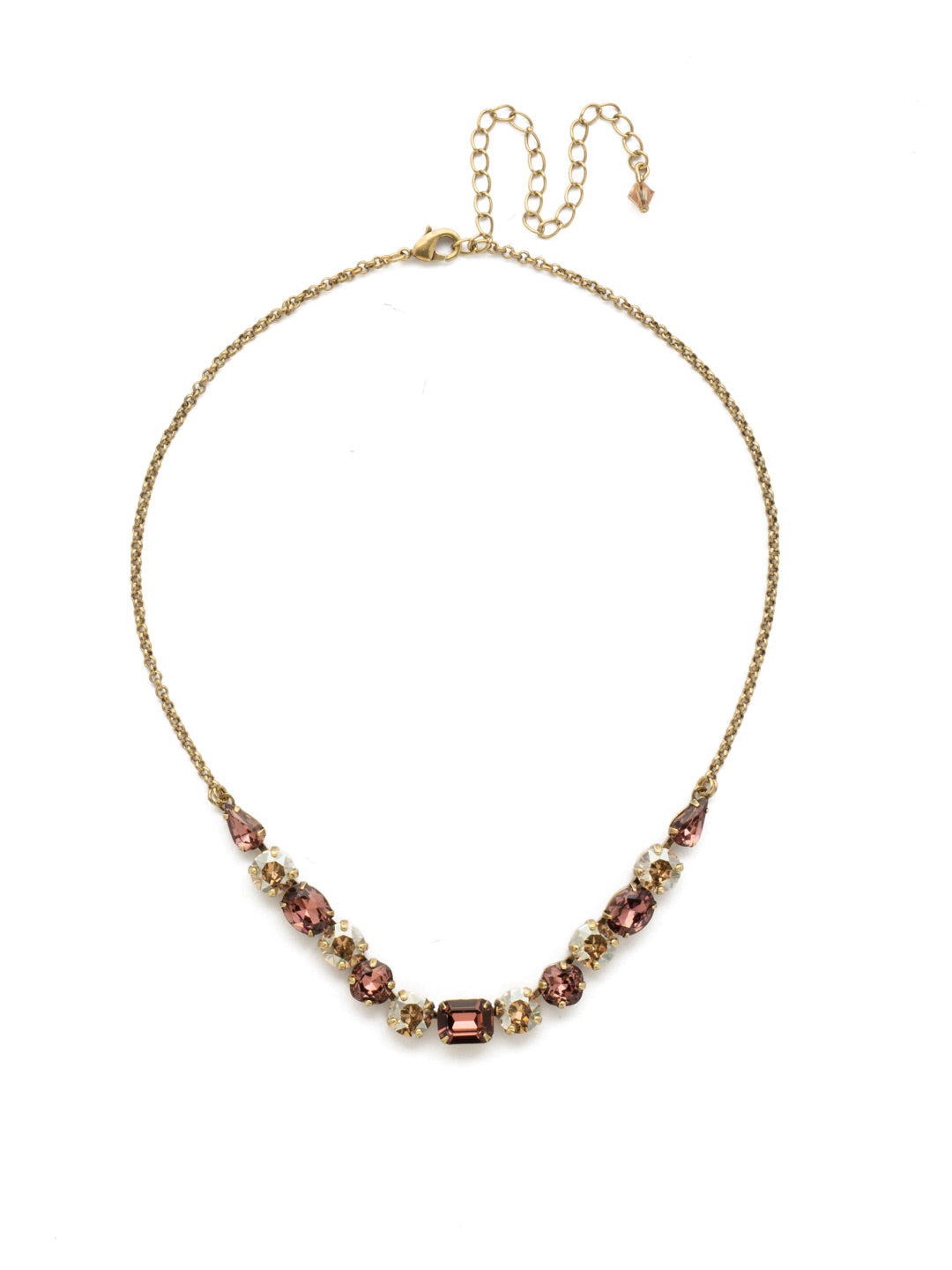 Tansy Half Line Tennis Necklace - NDQ14AGMMA