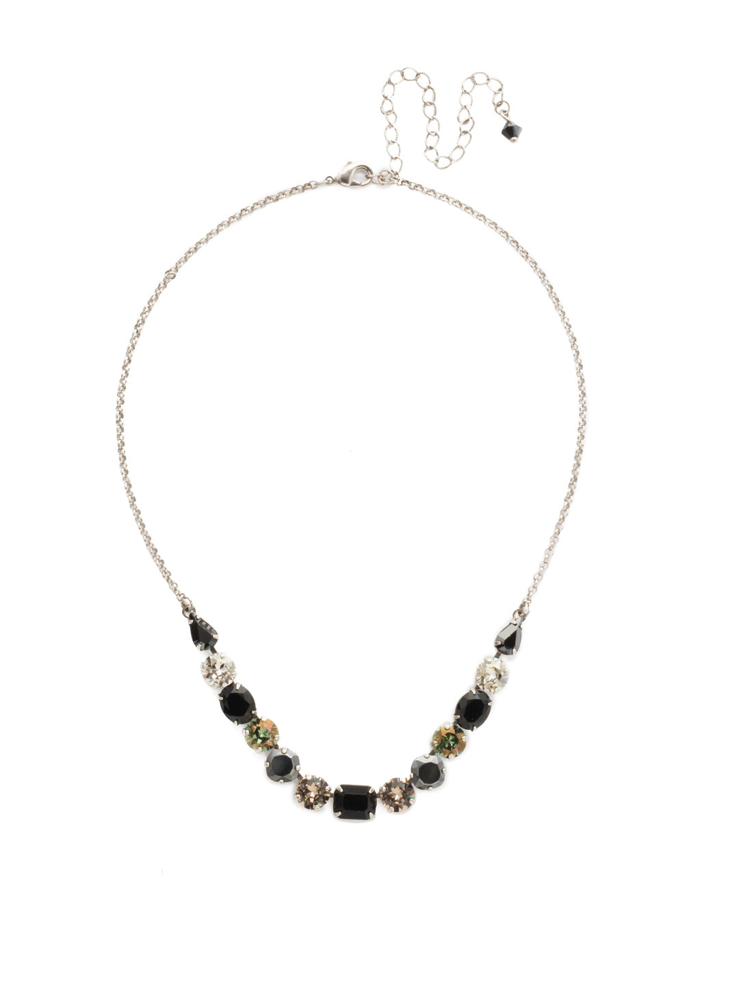 Tansy Half Line Tennis Necklace - NDQ14ASBON