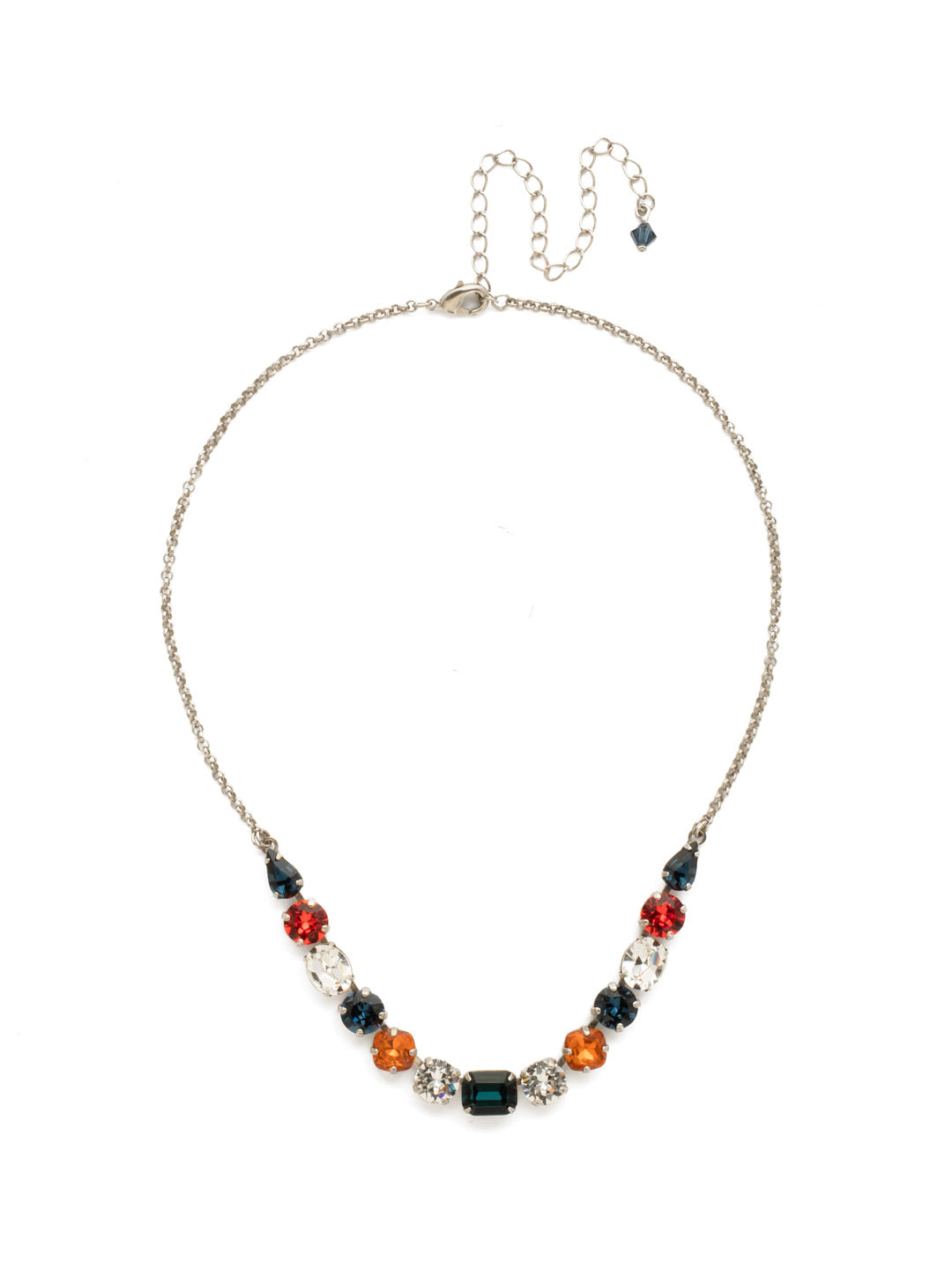 Tansy Half Line Tennis Necklace - NDQ14ASBTB