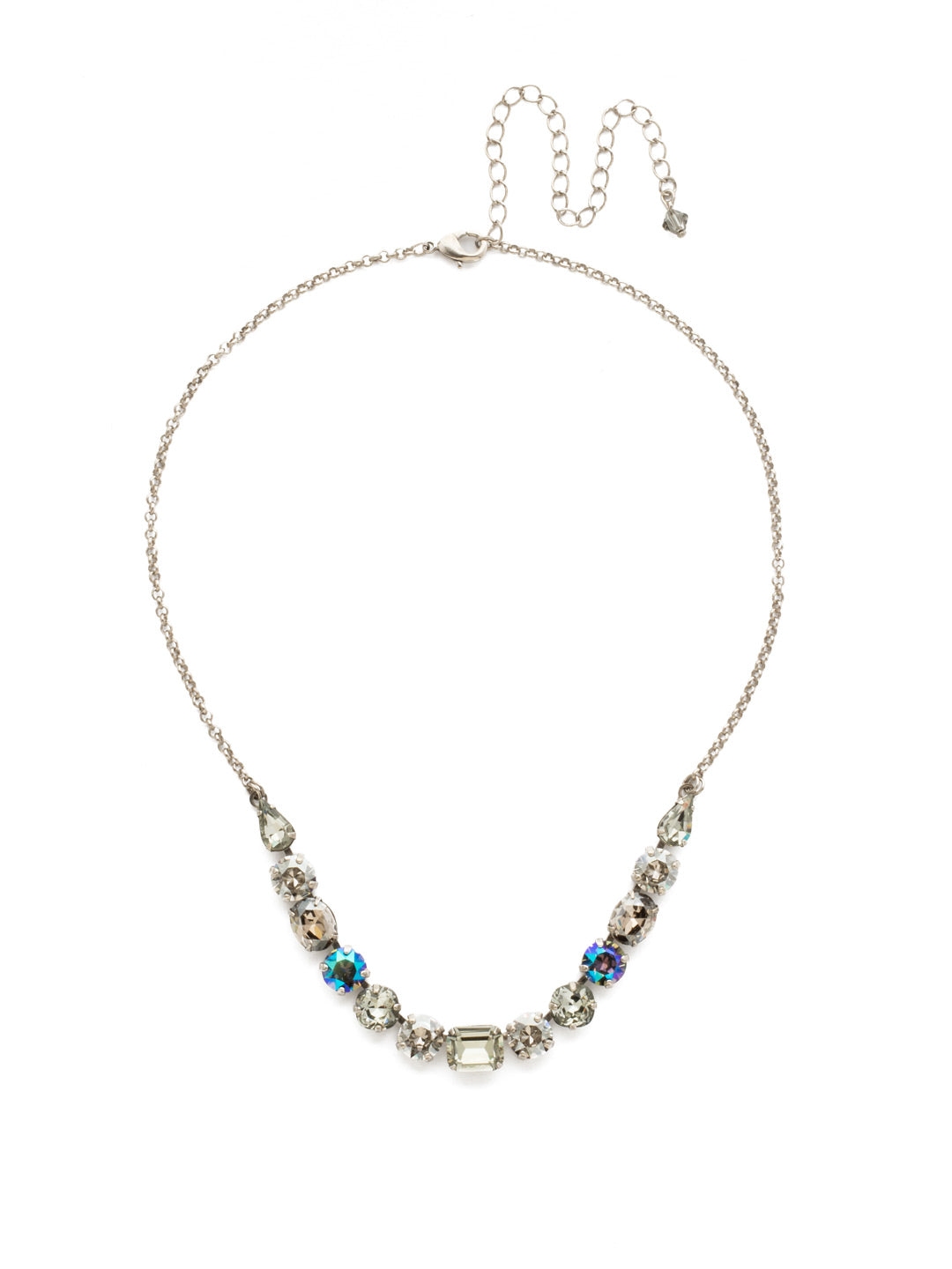 Tansy Half Line Tennis Necklace - NDQ14ASCRO