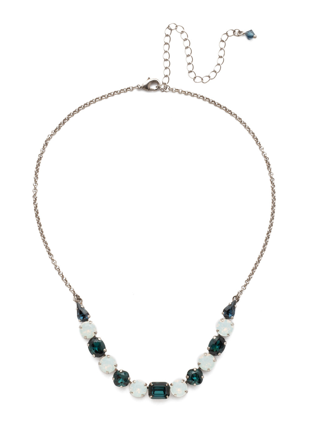 Tansy Half Line Tennis Necklace - NDQ14ASGBL