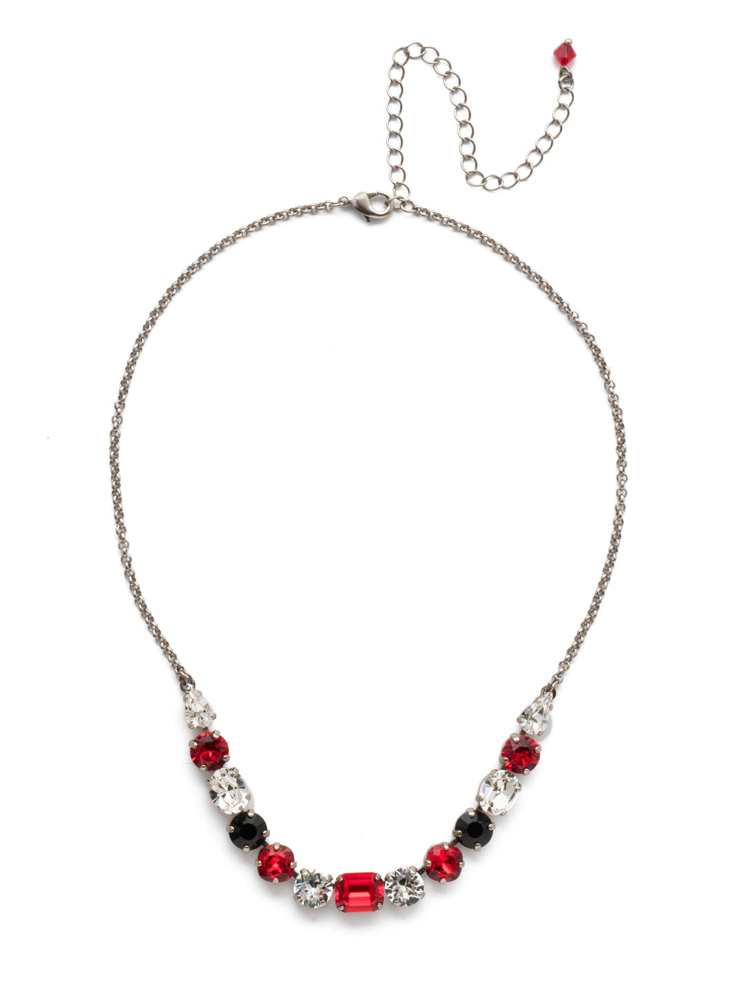 Tansy Half Line Tennis Necklace - NDQ14ASGDAR