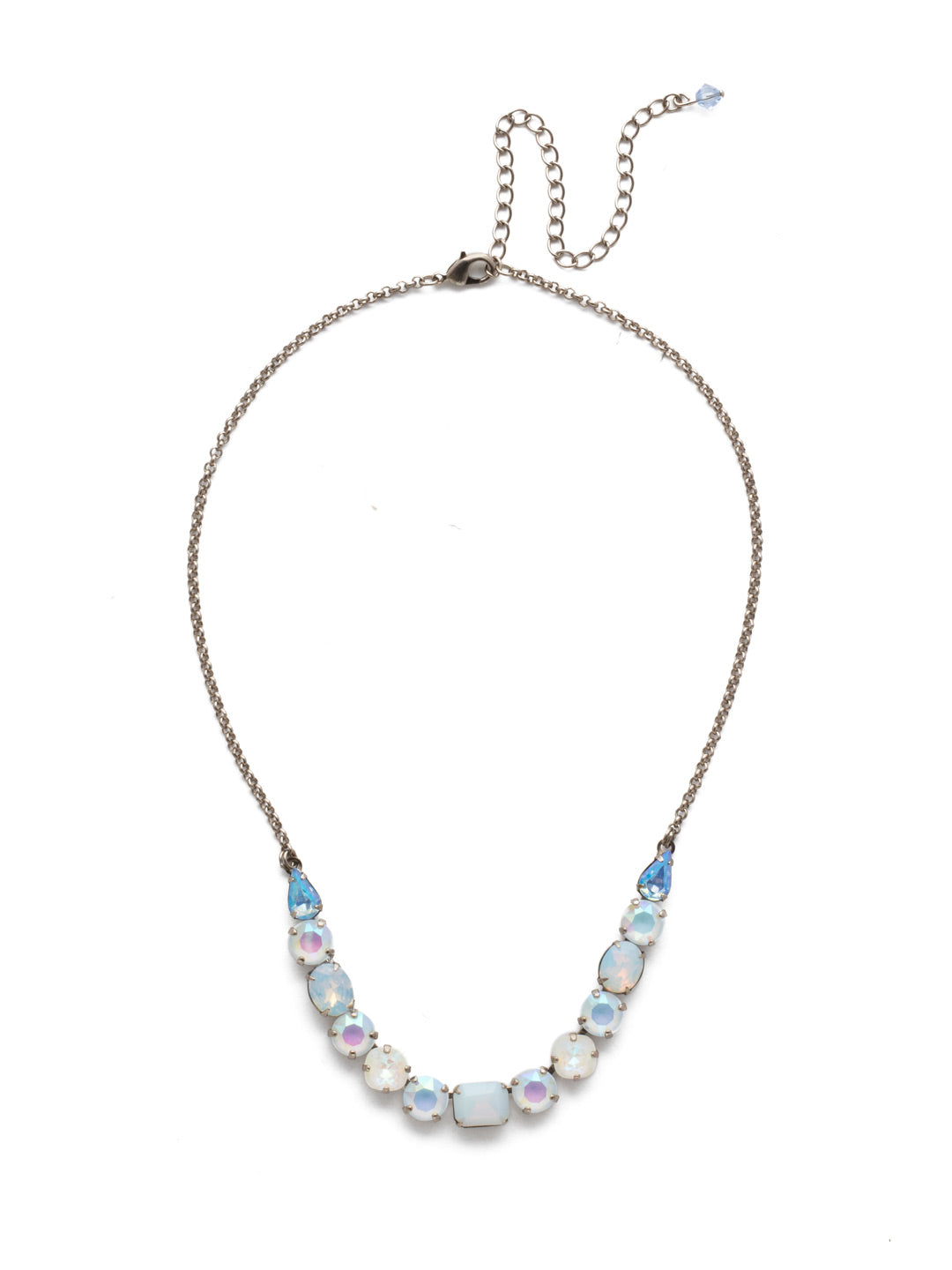 Tansy Half Line Tennis Necklace - NDQ14ASGLC