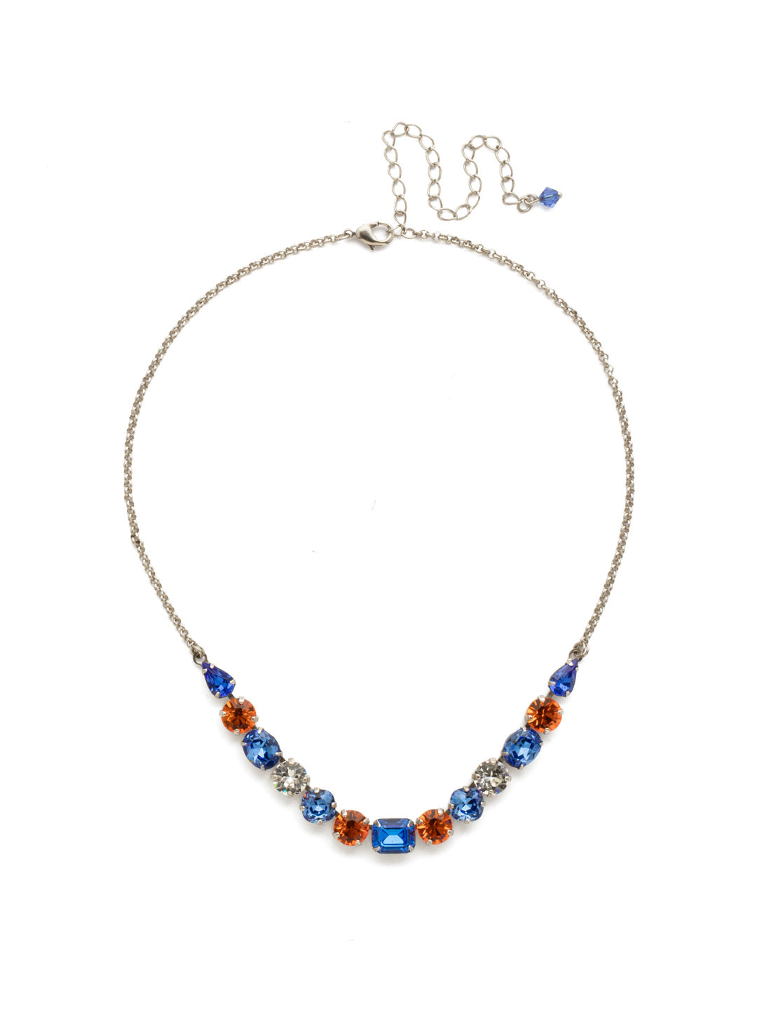Tansy Half Line Tennis Necklace - NDQ14ASOCR