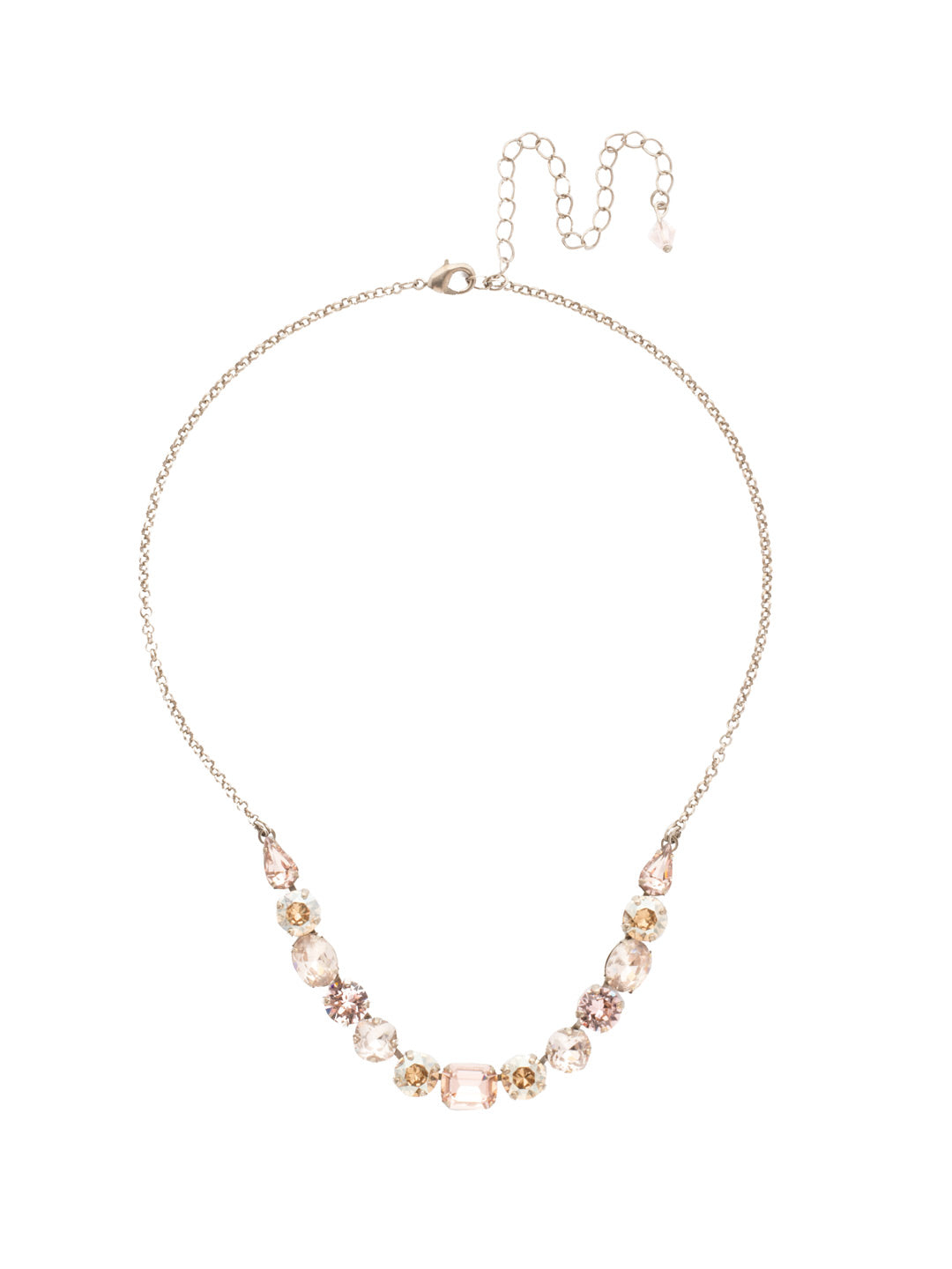 Tansy Half Line Tennis Necklace - NDQ14ASSBL
