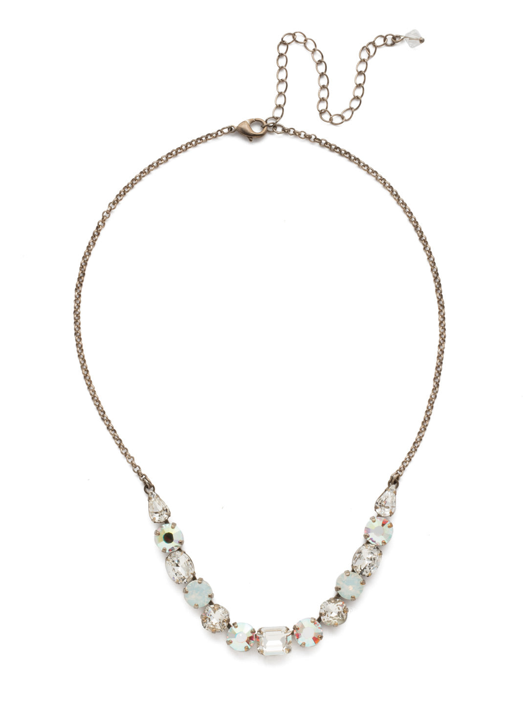 Tansy Half Line Tennis Necklace - NDQ14ASWBR