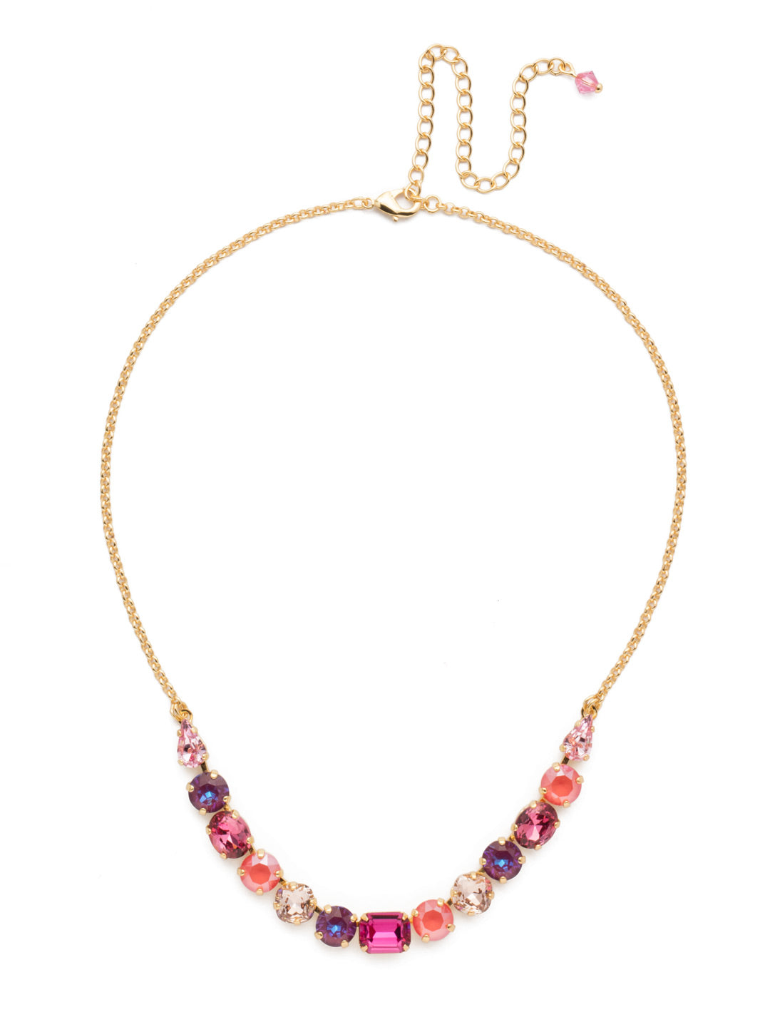Tansy Half Line Tennis Necklace - NDQ14BGBGA