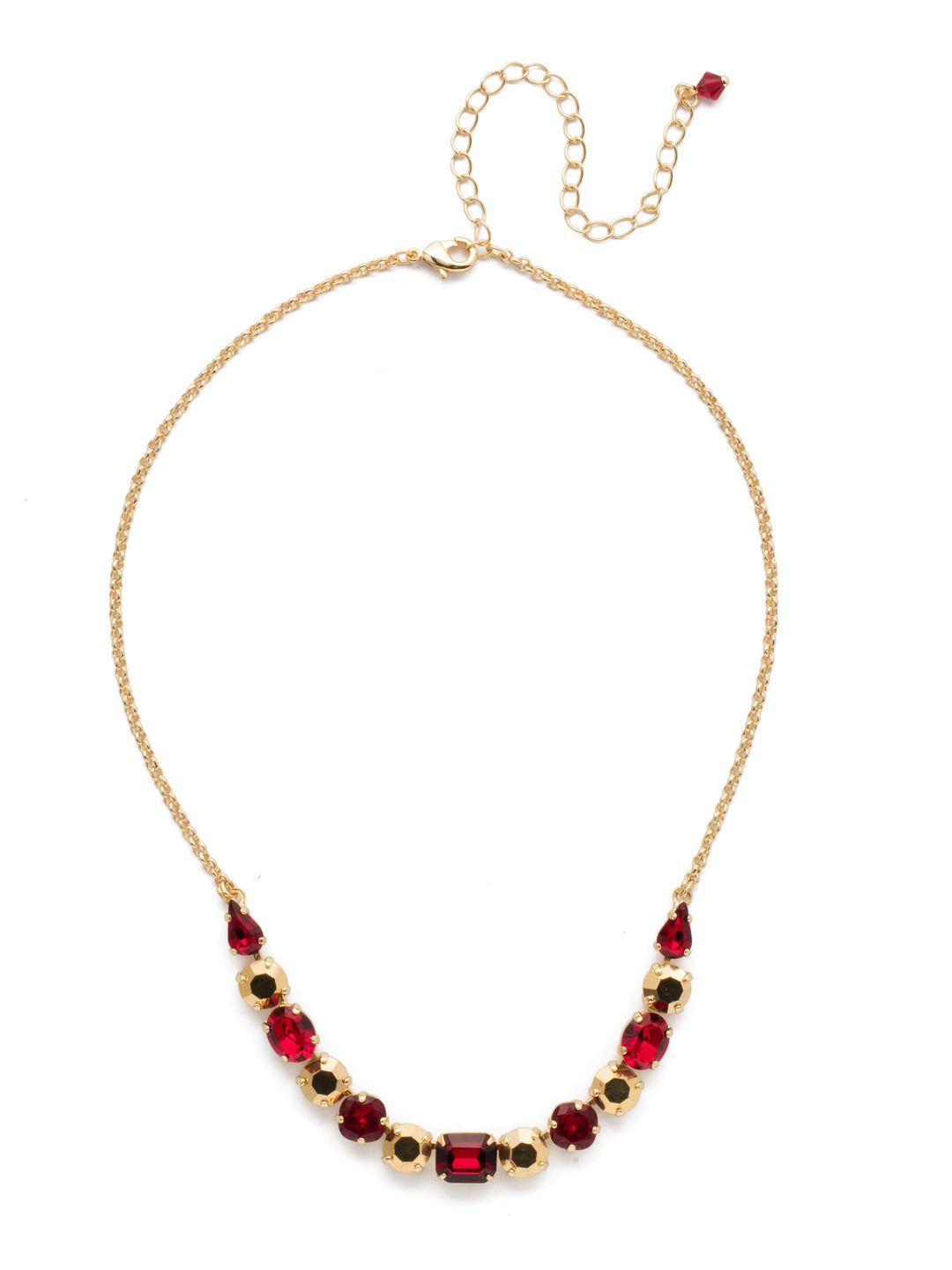 Tansy Half Line Tennis Necklace - NDQ14BGGGA