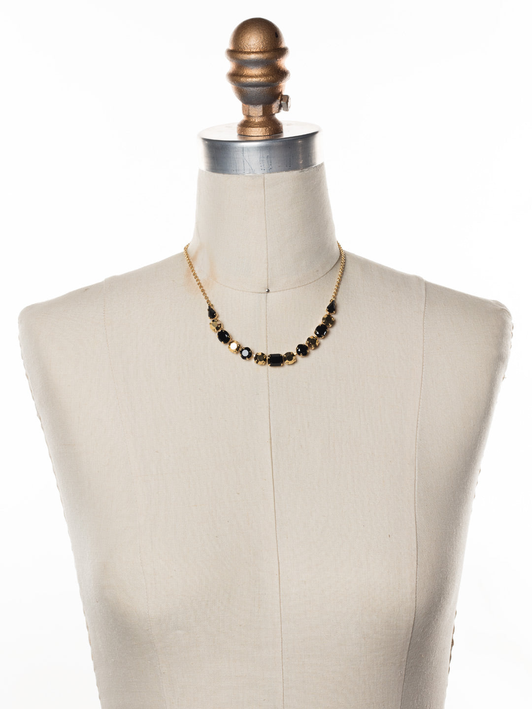 Tansy Half Line Tennis Necklace - NDQ14BGGTR