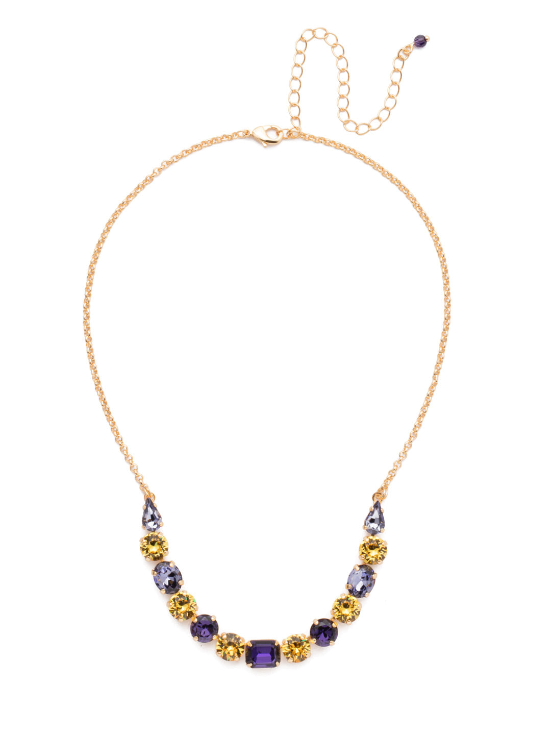 Tansy Half Line Tennis Necklace - NDQ14BGLPU
