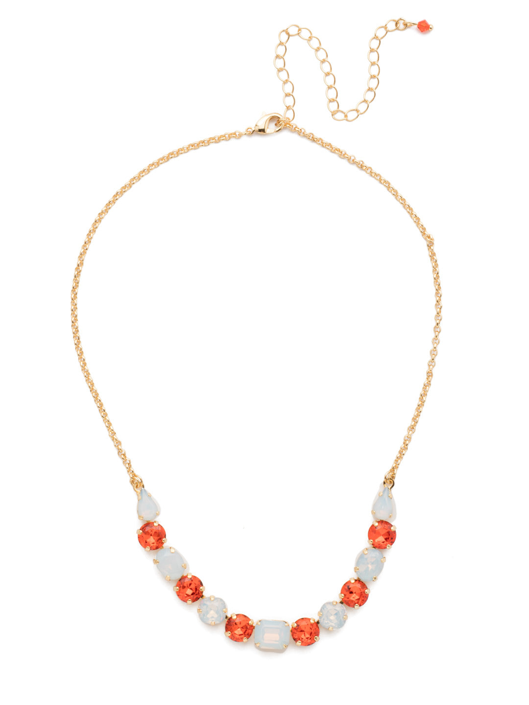 Tansy Half Line Tennis Necklace - NDQ14BGOCH