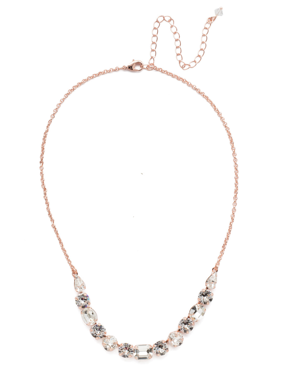 Tansy Half Line Necklace - NDQ14RGCRY