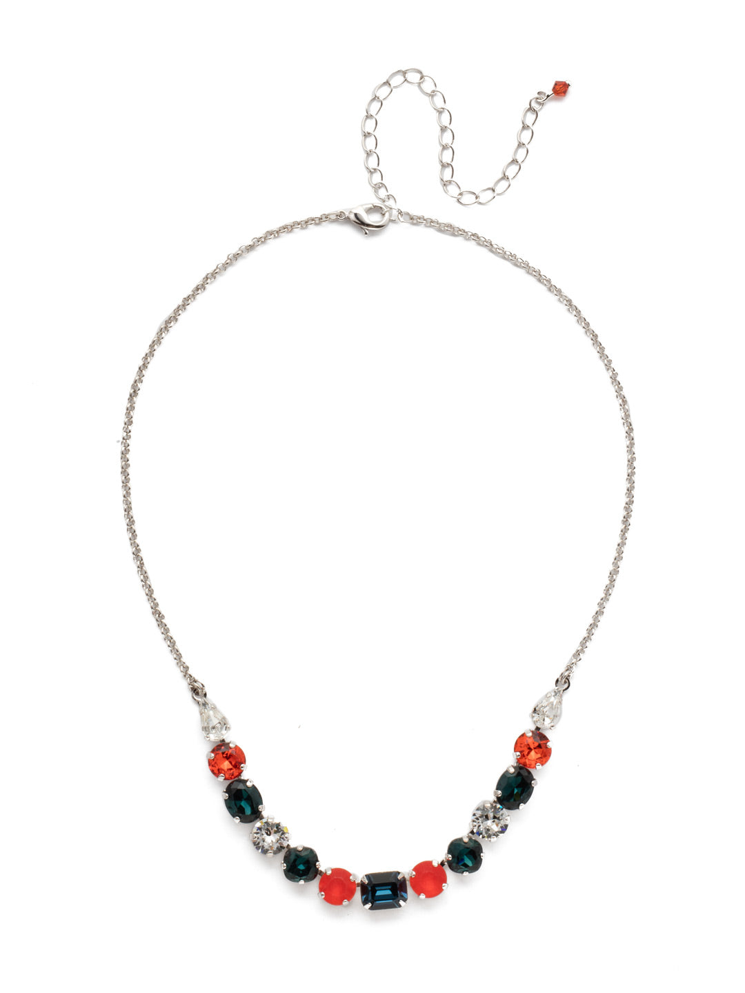 Tansy Half Line Tennis Necklace - NDQ14RHBTB