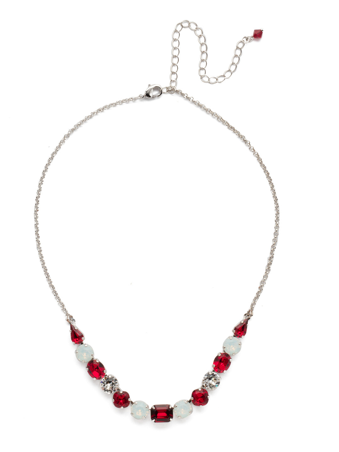 Tansy Half Line Tennis Necklace - NDQ14RHCP