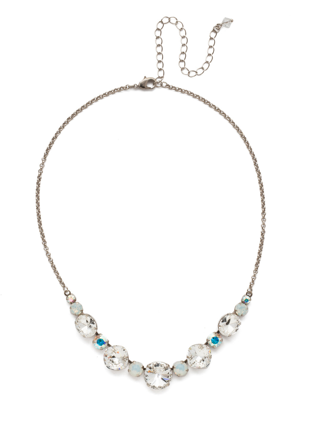 Half Circle Necklace - NDQ51ASWBR